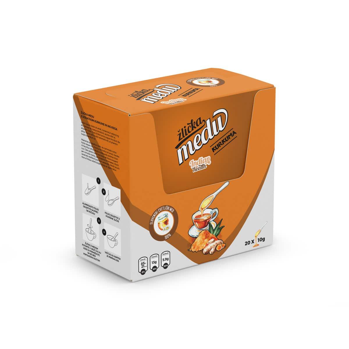 Večje pakiranje v škatli z okusom kurkume