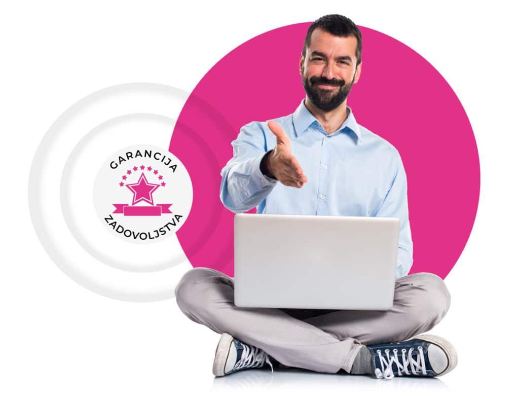Garancija zadovoljstva pri izdelava spletne strani, izdelava spletne trgovine, oblikovanje embalaže