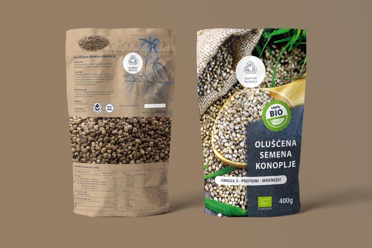Oblikovanje embalaže za semena konoplje
