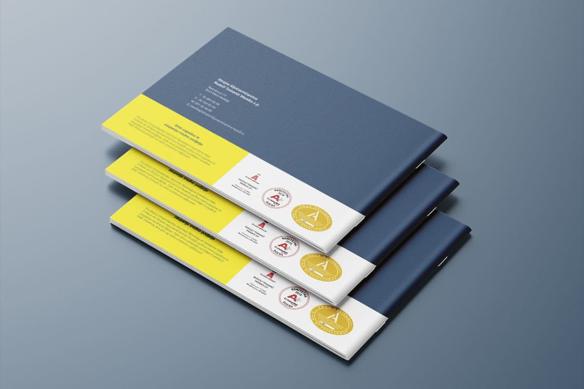 Zadnja stran produktnega kataloga