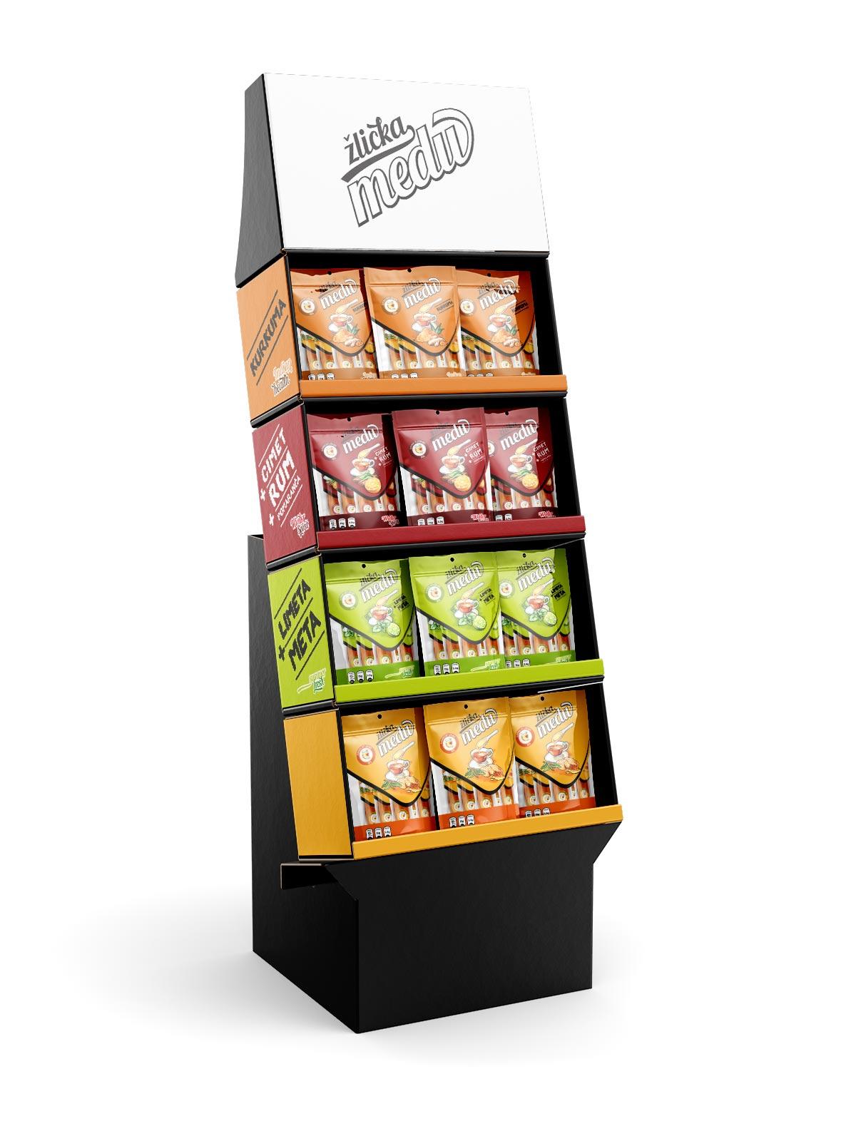 kreativne ideje reference zlicka medu oblikovanje embalaze cardboard display 02